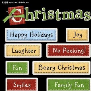 圣誕系列之圣誕字符圖片