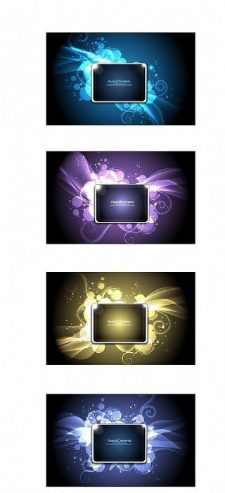 超酷眩光花紋系列矢量素材圖片